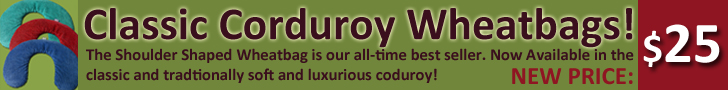 Classic Corduroy Shoulder shaped wheatbag