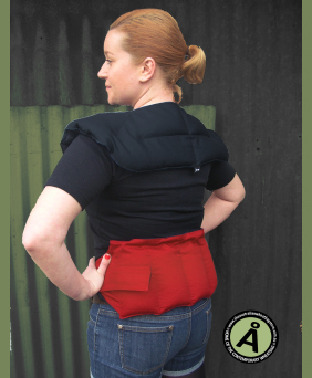 natural pain management with back heatpad